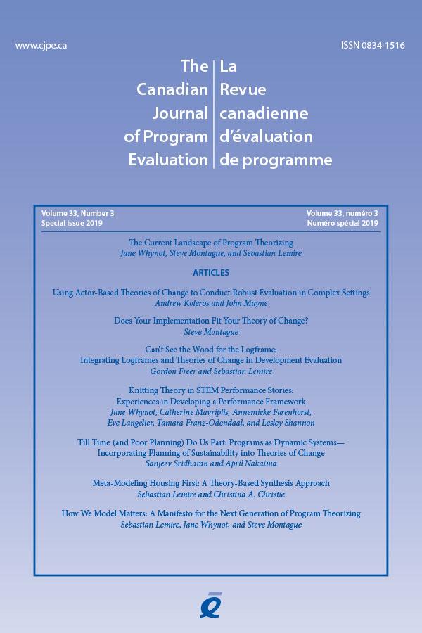 CJPE Volume 33 Number 3 Cover